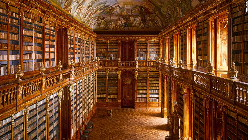 "<em>Strahov Abbey library, Prague, Czech Republic</em><br /><br />Libraries encapsulate the history of knowledge and stand as monuments to different epochs in architecture, interior design and art. When Dr. James Campbell of Cambridge University could not find a book that traced the history of library buildings through the ages, he decided to write one himself. With the renowned architectural photographer Will Pryce he embarked on an epic journey across 21 countries, visiting 85 of the world's greatest libraries. Three years later the result is <strong><a href=""http://www.thamesandhudson.com/The_Library/9780500342886"" target=""_blank"">The Library: A World History</strong></a>, the most complete account of library buildings to date. Here James Campbell and Will Pryce take us on a virtual journey through some of their favorites.<br /><br /><em>Interviews by </em><em><a href=""https://twitter.com/M_Veselinovic"" target=""_blank"">Milena Veselinovic</em> </a>"