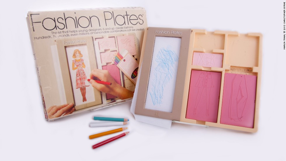 Barbie Fashion Plates 1970's Fashion Plates is another