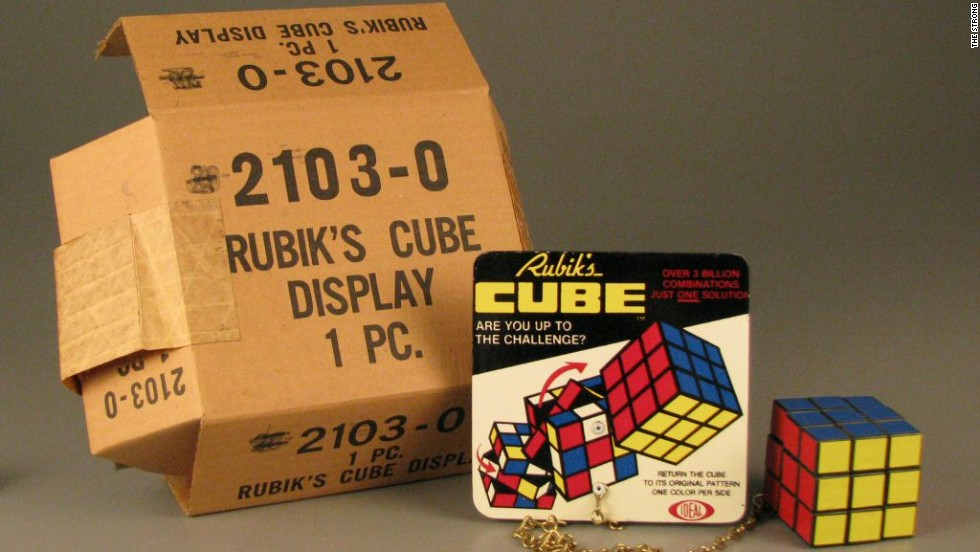 """In the 1980s, there were few greater presumed indicators of intelligence than the speed with which one could solve the Rubik's Cube,"" Byrne writes in ""Toy Time."" Named for its creator, Hungarian Erno Rubik, the cube was the first puzzle that stayed in place while it was being solved, and few were able to resist the challenge. It became a global phenomenon after debuting in the United States in 1980, selling more than a million units in that year alone."