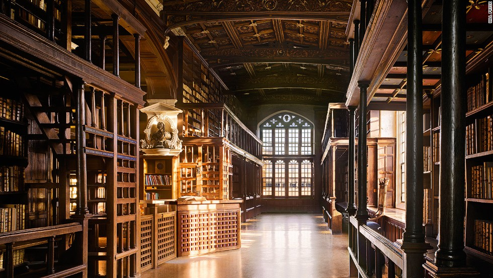 "<em>The Bodleian Library, Oxford, UK</em><br /><strong><br />Will Pryce</strong>: ""Arts End is one of most lovely corners of the group of libraries that constitute the Bodleian. Under the galleries there are little desks where readers face the bookshelves of one of the earliest wall-system libraries."""