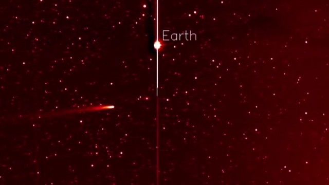 Comet's collision course with the sun