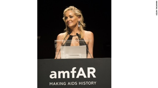 Actress Sharon Stone, amfAR's global fundraising chairman