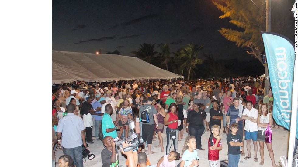 The island of Providenciales in the Turks and Caicos Islands, where the Conch Festival takes place, is home to a local population of just 32,000. Most turn up for the festivities.