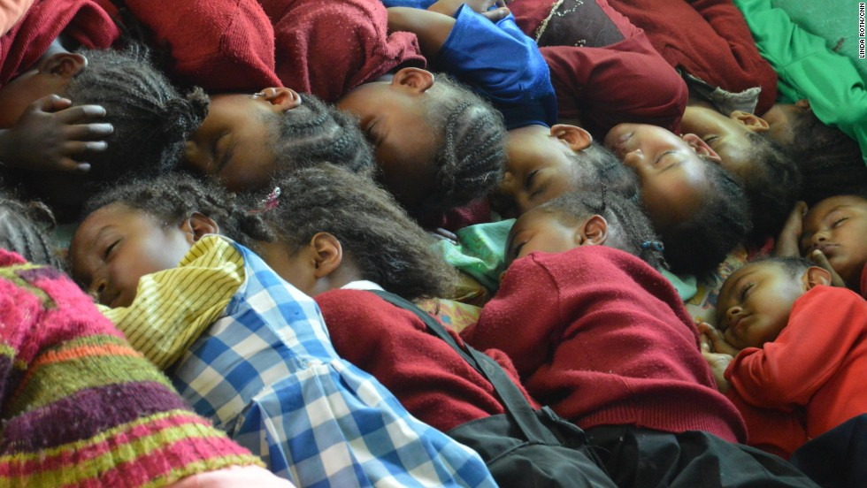 Nap time for youngsters at the school.