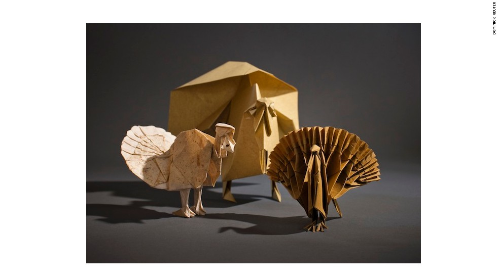 This selection of paper birds was made with both pre-existing and original origami designs.