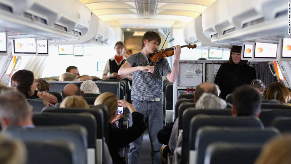 "OK the violin we can probably deal with. In short bursts. But if he's about to launch into ""Nessun Dorma,"" we have a problem. Amateur singing is not for planes. Or any small enclosed public space, for that matter."