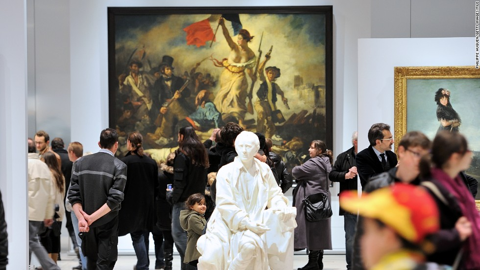 "This month marks one year since Louvre-Lens opened. The minimalist museum, in the town of Lens, displays hundreds of masterpieces on loan from the Louvre in Paris -- including Eugene Delacroix's ""Liberty Leading the People"" (pictured)."