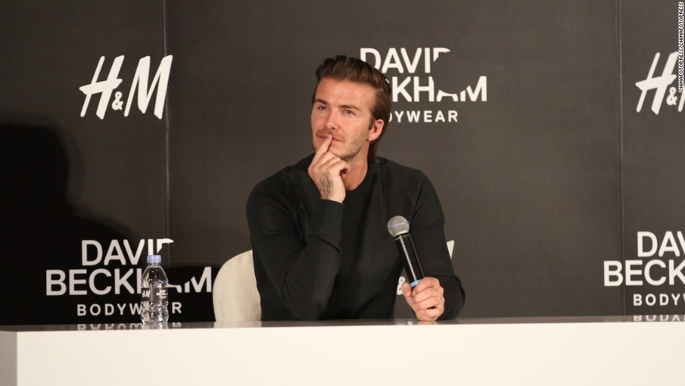 """Now that I've conquered bodywear, perhaps it's time to make my move into hotels,"" David Beckham might be thinking."