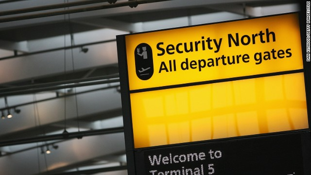 London's Metropolitan Police say the man was arrested at Heathrow Airport; he was taken to a police station in south London.
