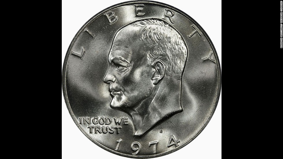 According to the U.S. Mint, the Eisenhower dollar was struck two years after former President Dwight D. Eisenhower died in 1969. It was produced until 1978.
