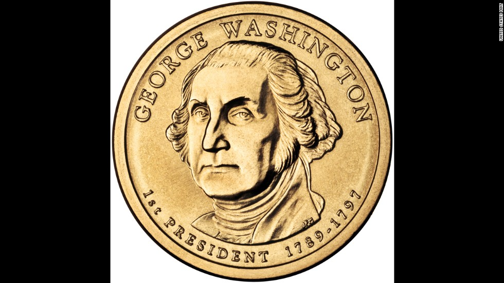 According to the U.S. Mint, the coin featuring President George Washington was the first coin struck in the Presidential $1 Coin program.