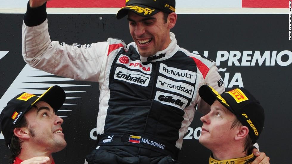 Unlike Grosjean, Maldonado is a race-winner in F1 thanks to his 2012 victory in Spain.