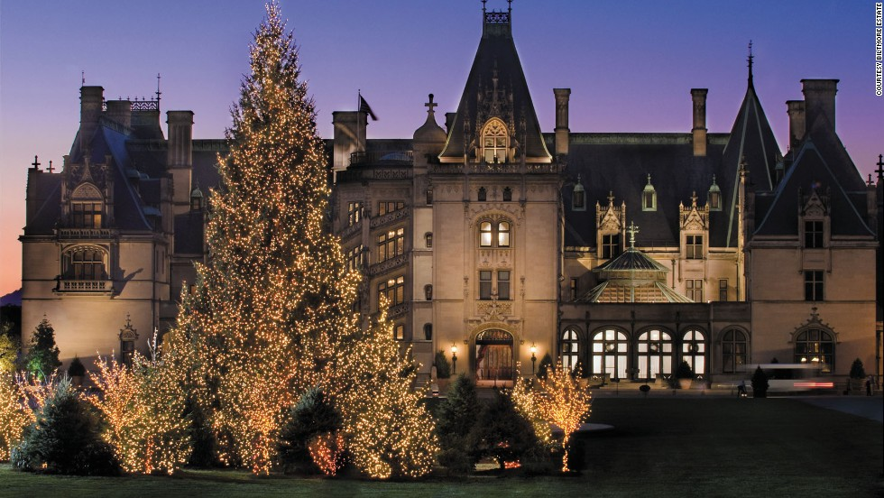 The Biltmore House in Asheville, North Carolina, makes a very big deal out of decorating for the holidays.