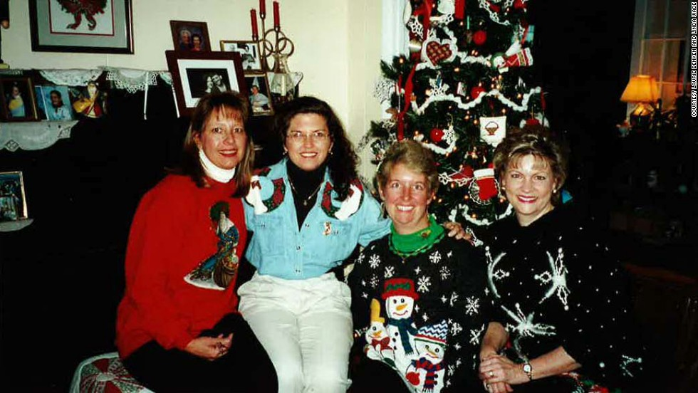 The ladies love their Christmas decorations and will stop by a town luminary display or restaurant for its Christmas decor. Schoninger, Plevyak, Benken and Wade visited this Waynesville, North Carolina, bed and breakfast in 2000.