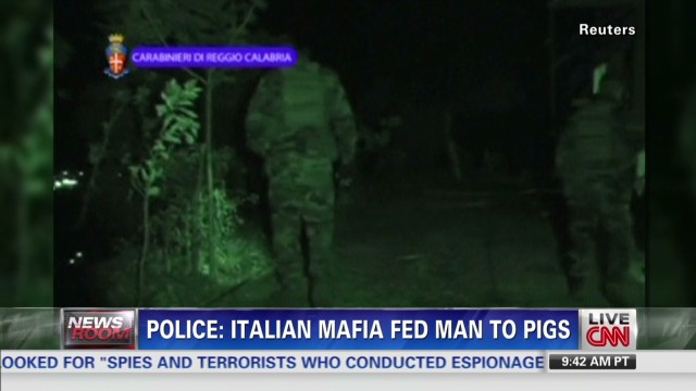 Italian mafia fed man to pigs