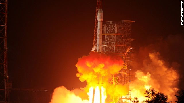 China launches first moon mission