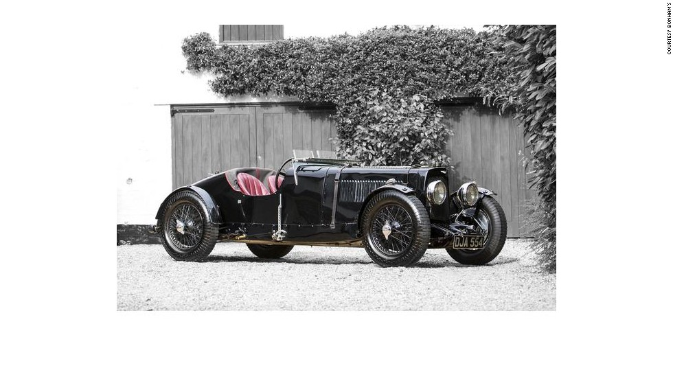 "This Aston Martin ""Ulster"" built in 1934 went for a princely $2.13 million. A replica of the company's 1934 racing team car, it was made available to amateur racers for just over $1,000 at the time."