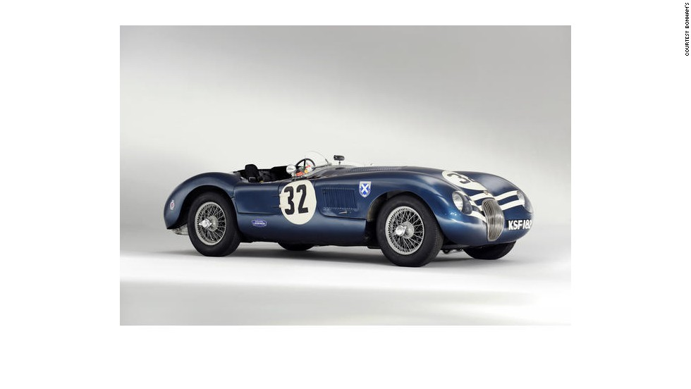 "The 1952 Jaguar ""C-Type"" was last night's biggest draw at Bonham's historic car auction, fetching $4.8 million when the hammer went down."
