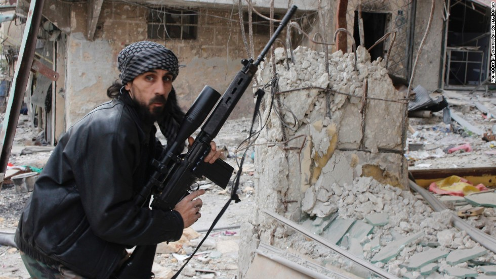 A rebel fighter from the Free Syrian Army in Aleppo, on December 1, 2013. Syria experienced the largest increase in short-term political risk over the last year, according to Maplecroft. The country changed from 44th place in 2010 to 2nd place this year.