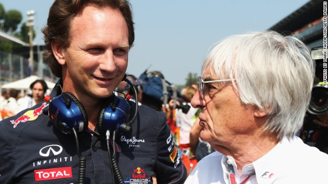 F1 chief Bernie Ecclestone suggested Christian Horner (left) could succeed him but the appointment is unlikely