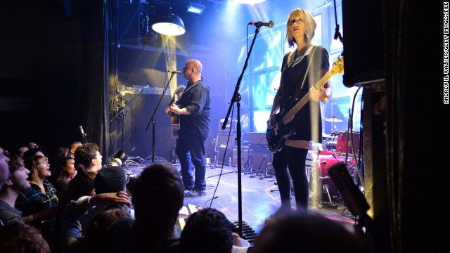 Kim Shattuck performs with the Pixies in New York City on September 20.