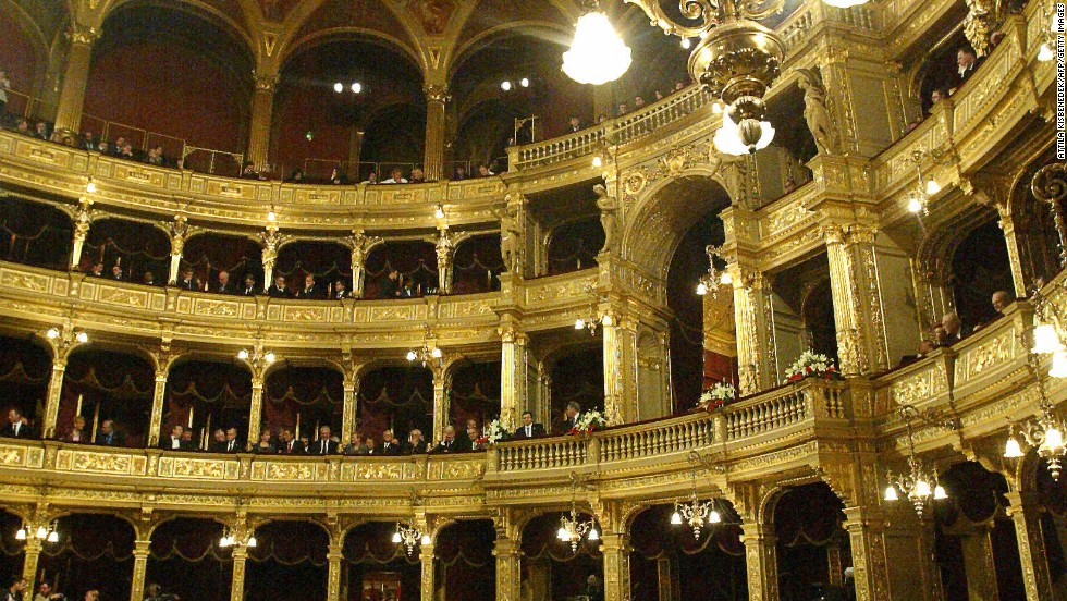 Pest also boasts the Opera House -- where the architecture is as astounding as the arias.