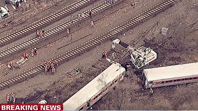 How fast was the train moving when it derailed?
