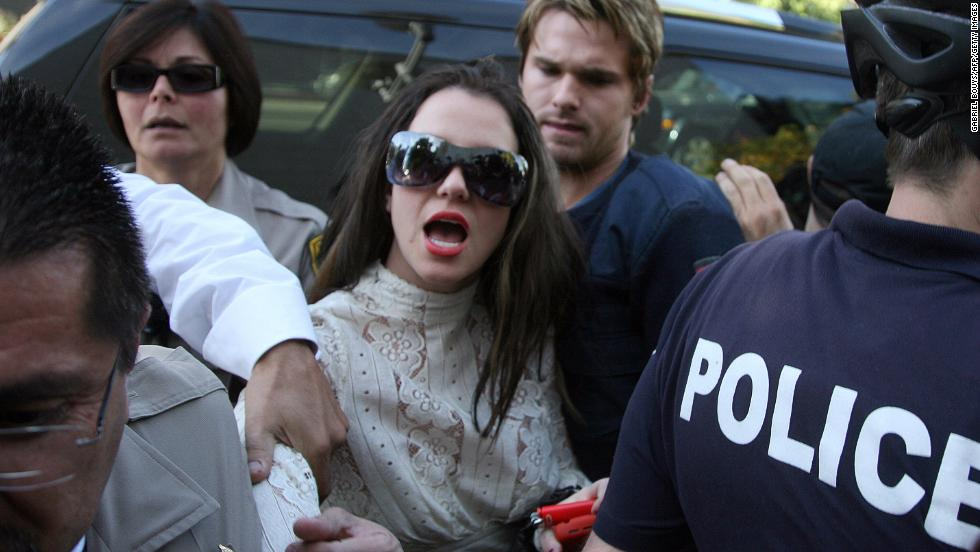 The singer arrives at the Los Angeles County Superior courthouse in 2008 for a hearing regarding visitation rights for her two sons.