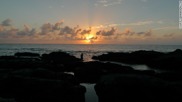 Sunset from the Kurio coastline.