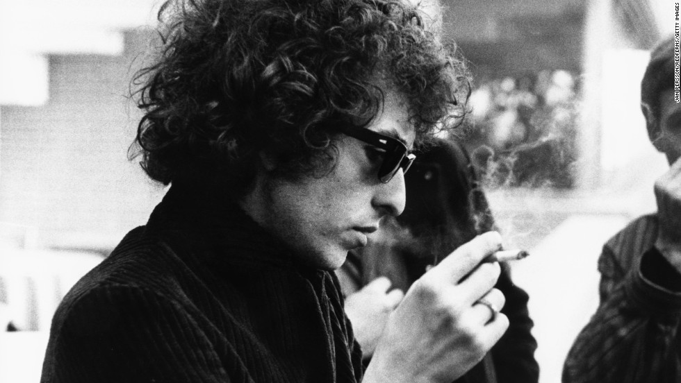 Bob Dylan smokes a cigarette circa 1966. Dylan's music spoke to a generation of people during the 1960s, a tumultuous decade that forever changed America. He went on to become a rock 'n' roll legend and influence many musicians to come.