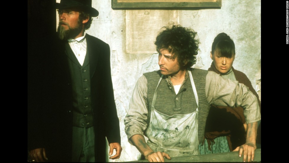 "Dylan appears on set for the film ""Pat Garrett and Billy the Kid"" in 1973. Dylan also recorded the soundtrack for the film."