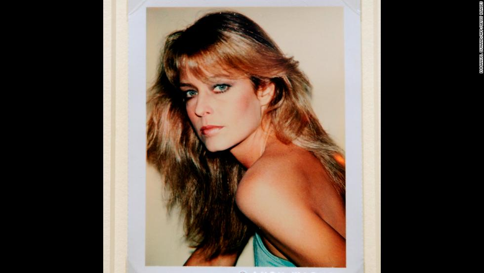 A Polaroid portrait of Fawcett, taken by Warhol, is displayed at Sotheby's in New York during a preview of The Polaroid Collection in June 2010.