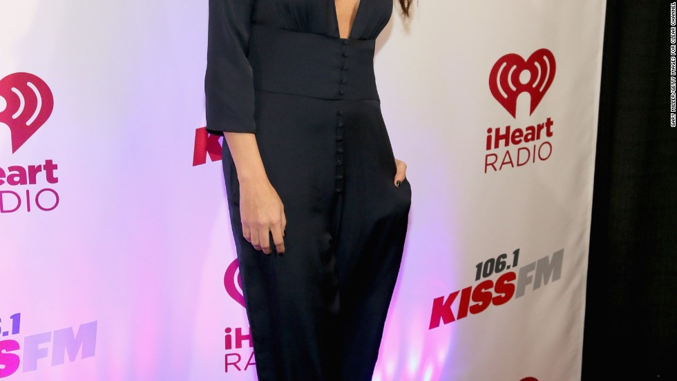 Selena Gomez shows a hint of skin at KISS FMs Jingle Ball in Dallas, Texas on December 2.