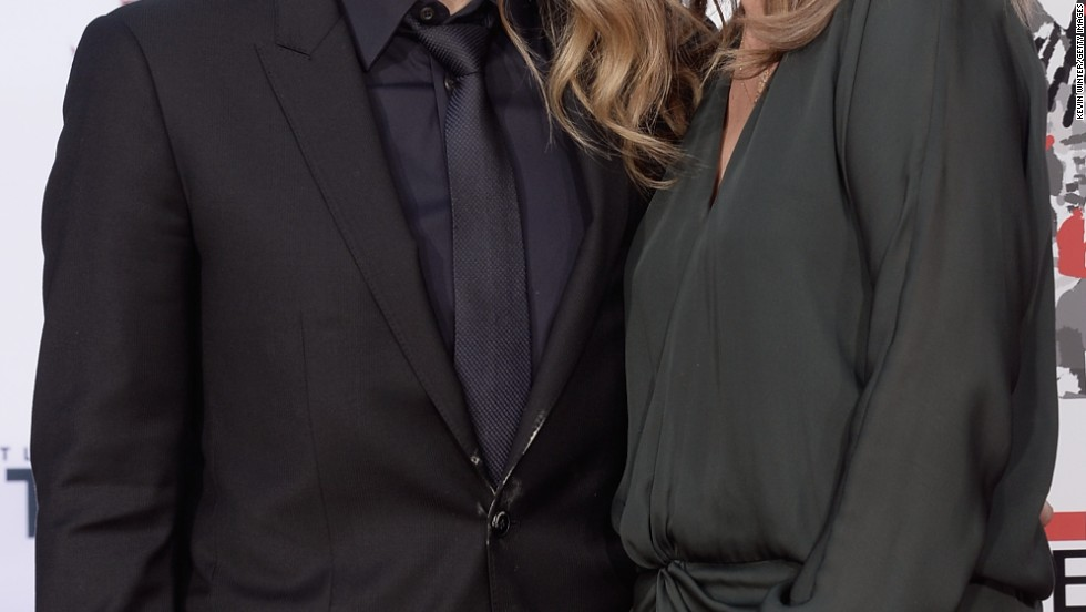 Ben Stiller and his wife, Christine Taylor, attend a hand and footprint ceremony honoring Stiller at the TCL Chinese Theater on December 3.