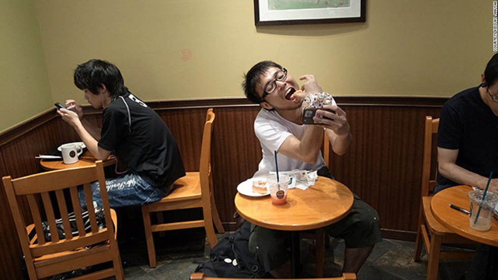 "Keisuke, 28, calls his photo series ""hitori date"" (one-man date). He became an Internet sensation earlier this year."
