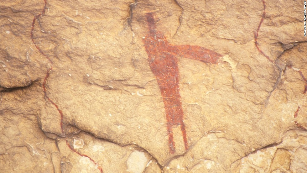 This is a pictograph found at Seminole State Historical Park.