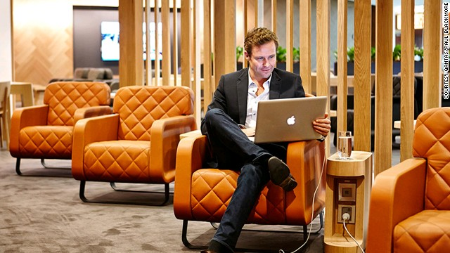Qantas' Singapore lounge: The airline says it can respond in real time to a customer's online feedback