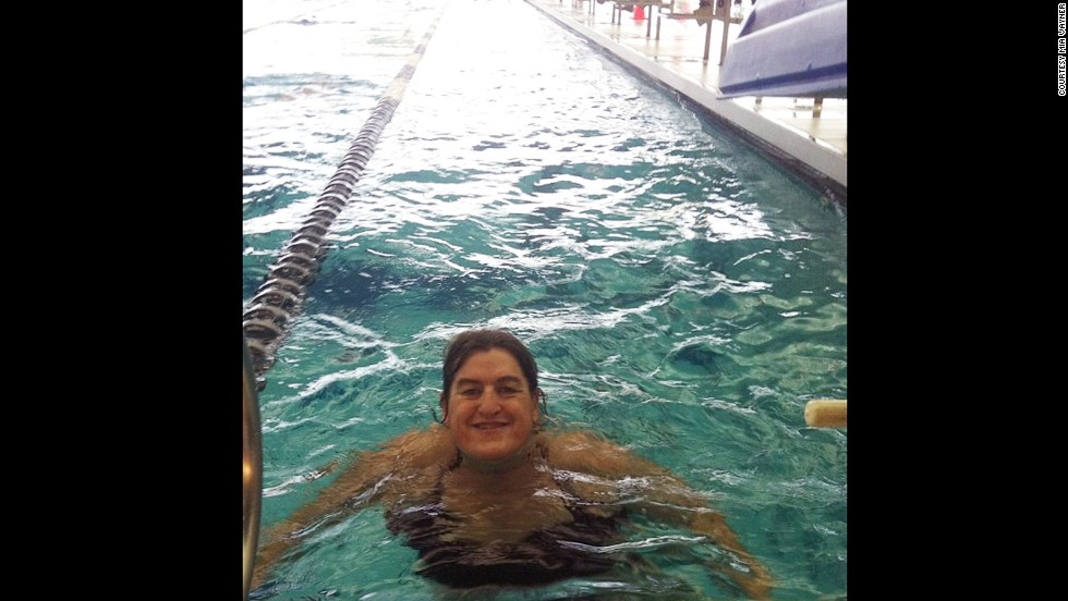 Vayner also started swimming laps at the local pool. She now does 2 miles every morning and is considering doing a triathlon.