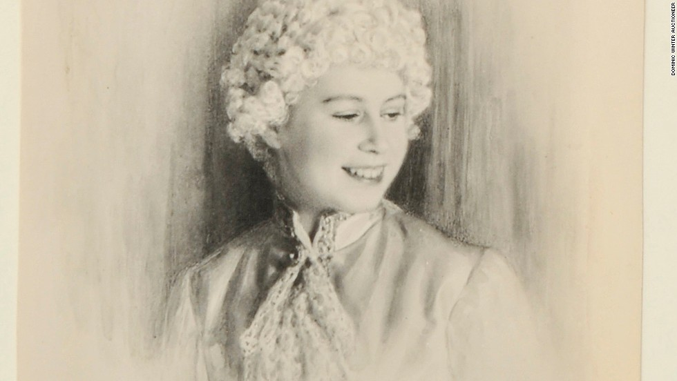 A signed image shows Elizabeth as Cinderella's Prince Florizel in 1941.