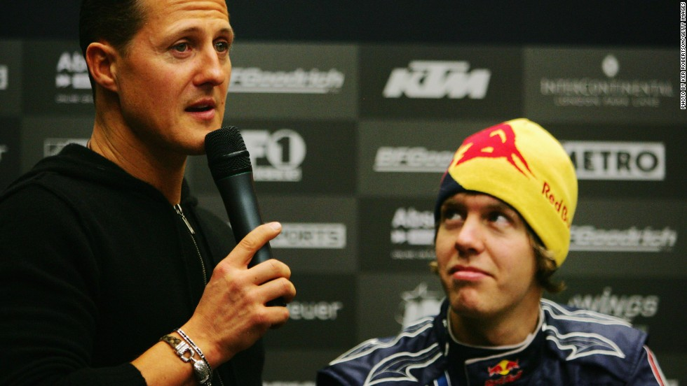 A young Vettel (shown here in 2008) says he looked up to Schumacher in his early F1 career -- but soon he would edge closer to his hero's achievements.