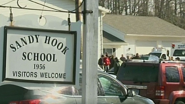 Calls for help inside Sandy Hook