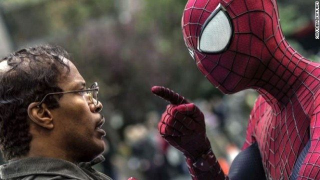 "Jamie Foxx, left, co-stars with Andrew Garfield in ""The Amazing Spider-Man 2."""