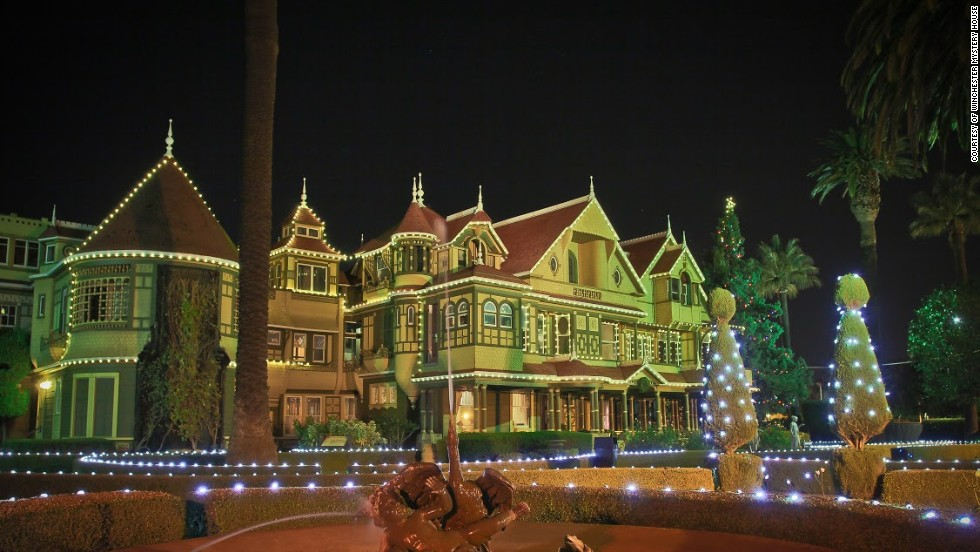While the Winchester Mystery House in San Jose, California, is well-known for supposed paranormal activities, the spirit of Christmas takes over each holiday season.
