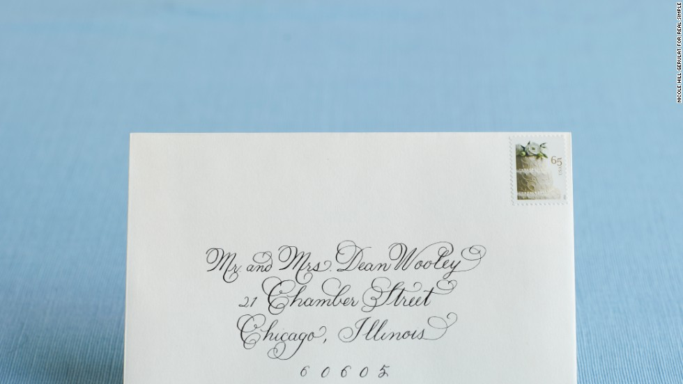 Addressing A Wedding Gift Card : Photos: Follow the script -- addressing invitations