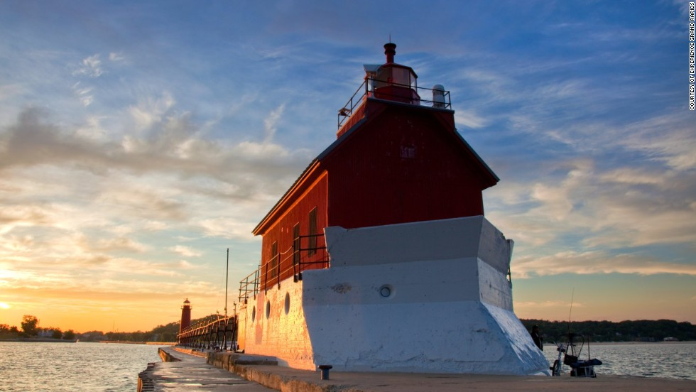 Grand Rapids and Michigan's Gold Coast topped Lonely Planet's top 10 list of U.S. destinations for travelers to explore in 2014. Grand Haven Lighthouse is shown here.