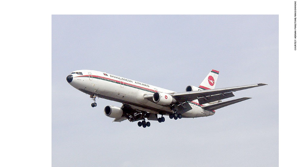 Bangladesh Biman Airlines operates the world's last passenger McDonnell Douglas DC-10 -- which the airline says will be making its final scheduled flight on December 7 on an otherwise routine flight. Shown here: A Bangladesh Airlines DC-10.