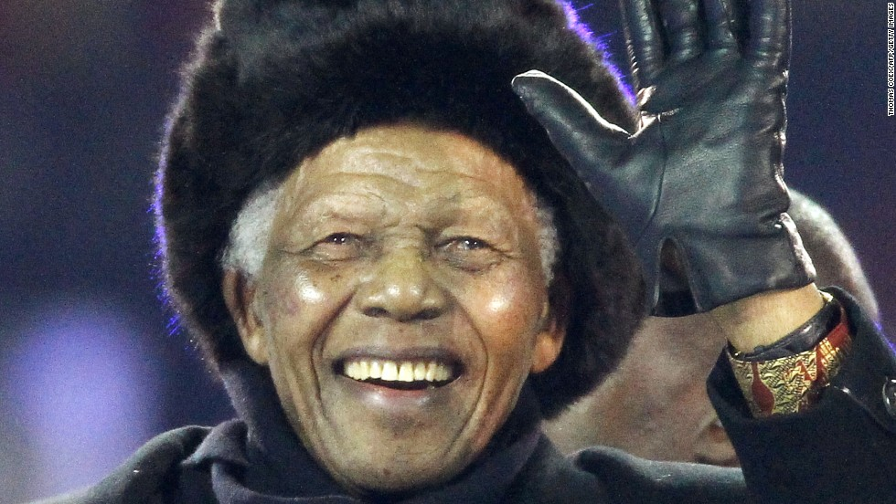 Mandela's last public appearance was at the closing ceremony of 2010 World Cup at Soweto's Soccer City Stadium.