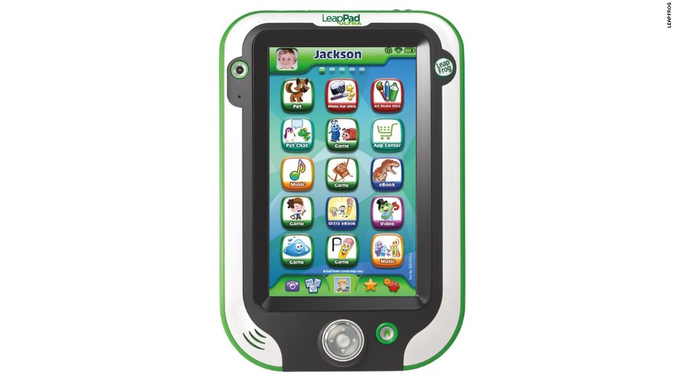 "<a href=""http://www.leapfrog.com/en/landingpages/leappadultra.html"" target=""_blank""><strong>LeapFrog LeapPad Ultra<strong></a></strong>.</strong> Like its tablet relatives, the LeapPad Ultra comes with a camera, apps and a high-resolution screen. But this tablet is aimed at children, thanks to a sturdy frame, the Zui LeapSearch browser (with parental settings) and an eye towards playful education. Maybe now your children will stop hogging your iPad. ($149.99)"