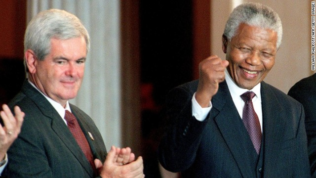 Newt Gingrich responds to Mandela critics