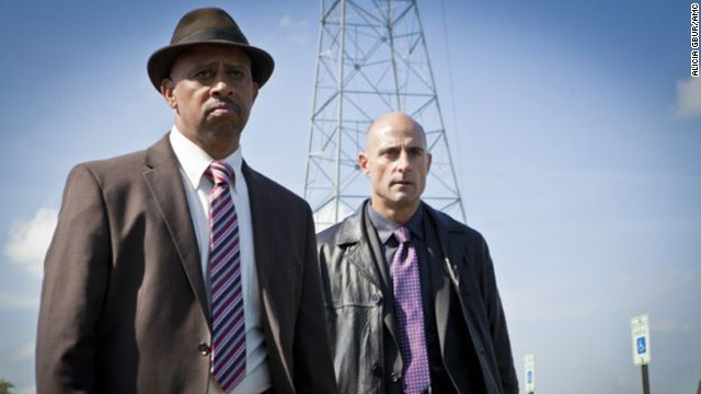 "Charles Dawson (Ruben Santiago-Hudson) and Frank Agnew (Mark Strong) in Episode 1 of AMC's ""Low Winter Sun."""